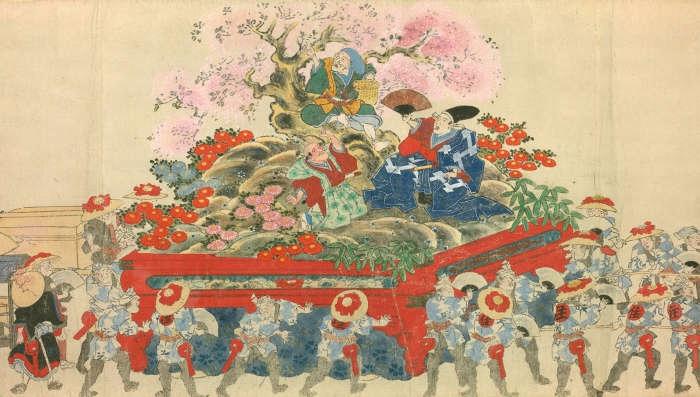 江戸時代の神田祭[百科マルチメディア]
