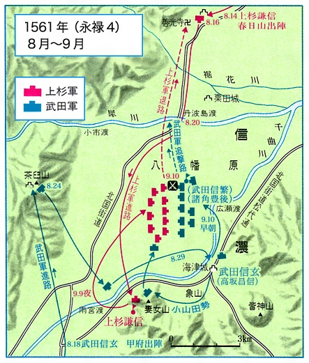 川中島の戦い(1561年8月~9月)[百科マルチメディア]