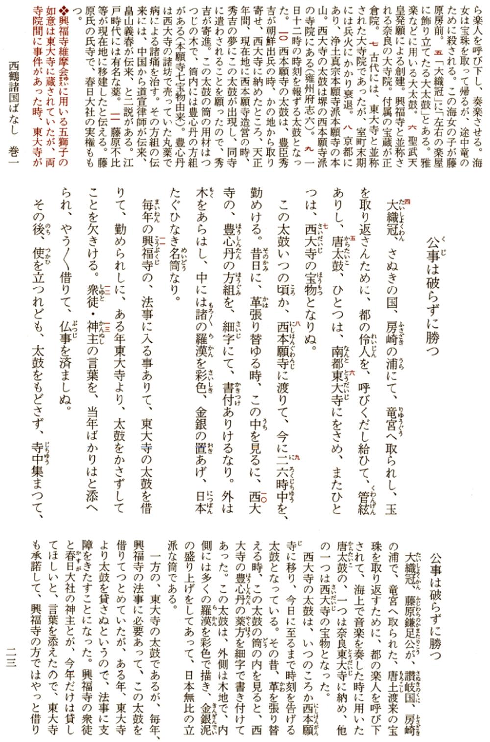 西鶴諸国ばなし(井原西鶴集)