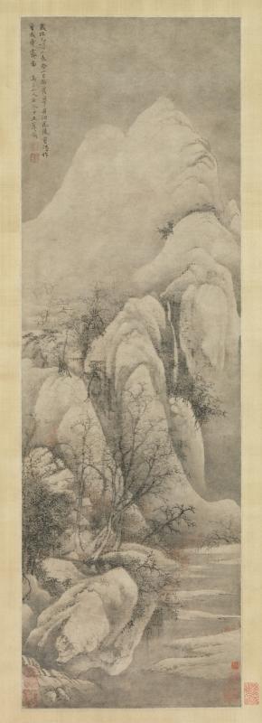 王翬『倣李成雪霽図』[百科マルチメディア]
