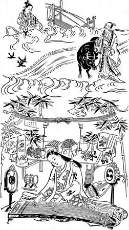棚機【一】(2)〈奥村政信画〉